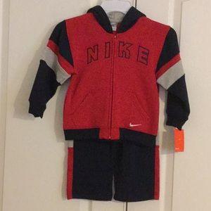 Nike 2 Pc Sz 4T Hooded Sweatsuit